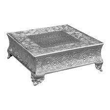 "GiftBay 751-16S Wedding Cake Stand Square 16"", Silver"