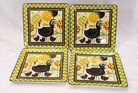 Certified International Oh Happy Day Dan Dipaolo Dinner Plates Lot of 4 Lot A