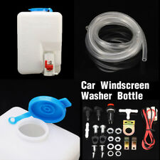 12V Universal Car Windshield Washer Reservoir Pump Bottle Kit Jet Button Switch