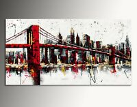 DIPINTO MODERNO ASTRATTO BROOKLYN CM 140x70 manhattan abstract painting