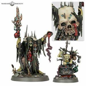 Swampcalla Shaman & Pot-grot - Age Of Sigmar Dominion Warhammer Kruelboyz