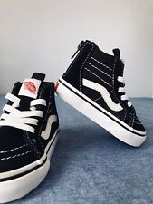 VANS Toddler Sz 5 Off the Wall Child Black Suede High Top NEW !!