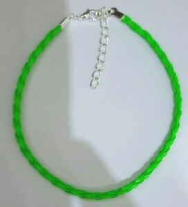 """BRAIDED LEATHER ANKLET ANKLE BRACELET - 16 COLOURS 9"""" + EXT - BUY 4 GET 1 FREE"""