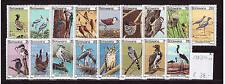 Botswana 198-214, Vögel, MNH, postfrisch , birds