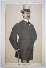 1871 DON MANUEL VILLANUEVA SPANISH DIPLOMAT VANITY FAIR  COLOUR LITHOGRAPH PRINT