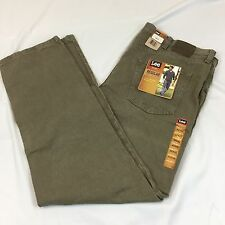 Lee Regular Fit Brown Dungarees 42x32 Straight Leg. New With Tags