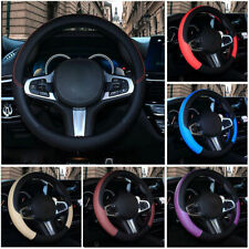 Universal Car Auto 38cm PU Leather Elastic Anti-slip Steering Wheel Cover Random