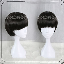 Anime Mob Psycho 100 Kageyama Shigeo Short Straight Black Bang Cosplay Wigs