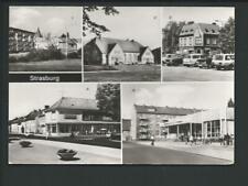 STRASBURG << 5 Ans. u.a. Kontakt-Kaufhaus, Konsum-Kaufhalle, Autos....>> s/w AK