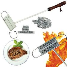 More details for bbq branding iron grill personalise barbecue tool 55 letters for burgers steak