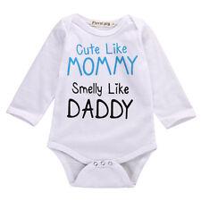 Newborn Infant Baby Boy Girl Playsuit Bodysuit Outfit Romper Jumpsuit Clothing D