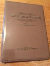 WALKING WITH GOD Charles Stanley Knowing God Through Prayer Vol 3 Faux Leather
