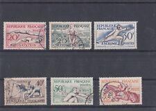 FRANCE Série année 1953 6 timbres donc 5 oblitérés et 1 neuf