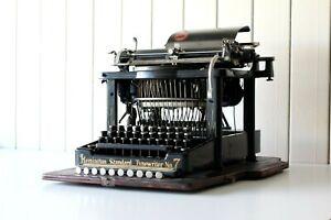 Magnificent Rare Antique ~ Remington Blind Writer No 7 ~ Original Case & Base