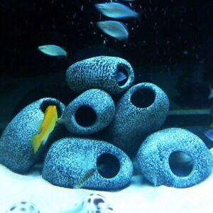 1PCS Cichlid Stone Aquarium Fish Tank Pond Ornament Decoration Shrimp Breeding R