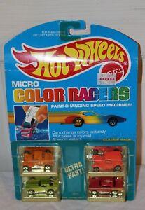 Vintage 1988 Hot Wheels Micro Color Racers 4 Pack #3229