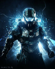 "Halo 1 2 3 4 Hot Game Fabric poster 32"" x 24"" Decor 4-09"
