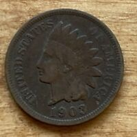 FREE SHIP! VG 1903 Indian Head Cent -118 Year Old Penny - Philadelphia Coin -L5
