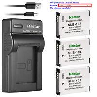 Kastar Battery Slim Charger for Toshiba PX1740E PX1752E-1C4G PX1762E-1C4G Camera