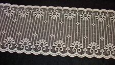 "LOT 42 Yards Vintage Antique Lace Trim Doll Craft Sewing 3 1/2"" Wide White"