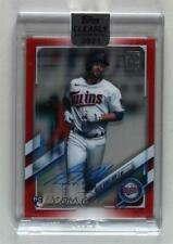 2021 Topps Clearly Authentic Red /50 Alex Kirilloff #Caa-Akl Rookie Auto