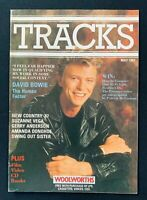 Vintage 1987 Tracks Woolworths Magazine, David Bowie Front Cover, Article Advert