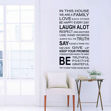 One Piece In This House We Are A Family Wall Sticker Home Living Room Home Decor