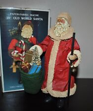 "Kurt ADLER PAPER Fabric MACHE 10"" OLD WORLD SANTA Handcrafted Vintage"
