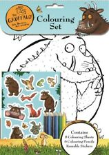 Gruffalo Colouring Set, Activity Pack, 8 Sheets to Colour, Pencils, Stickers, A4