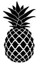"Summer Pineapple Fresh Fruit Inspired Vinyl Wall Decor Print Decal Sticker 4"""