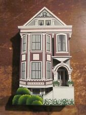 1995 Shelia Wood 3D House Collectible, Queen Rose House in San Francisco, Ca