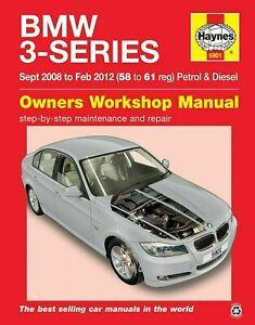 BMW 3-Series Repair Manual 2008 - 2012 Petrol & Diesel Haynes 5901