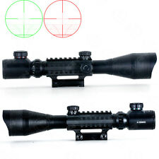 4-12X50EG Optical Rifle Scope With Mounts&Accessory Rails 20mm Tri-rail Link