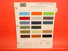 1969 AMC JAVELIN AMX SST REBEL SC/RAMBLER HURST ROGUE AMBASSADOR PAINT CHIPS 69