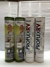 COMBO Pack - 2 DICOR LAP SEALANT WHITE & 2 PROFLEX RV CAULK BRIGHT WHITE