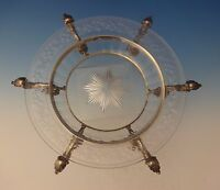 Dominick & Haff Sterling Silver Centerpiece Serving Bowl Crystal Etched (#0089)