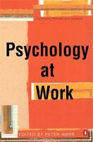Psychology at Work by Warr, Peter Paperback Book The Fast Free Shipping