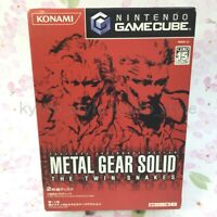 USED Gamecube METAL GEAR SOLID THE TWIN SNAKES 80179 JAPAN IMPORT