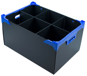 Large Glassware Storage Box For Water Jugs -  6 Cells H260 x D160mm