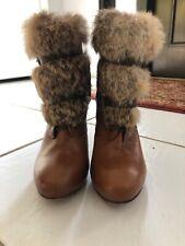 Dolce Vita Tatum Rabbit Fur Ankle Boots - Women's Size 8