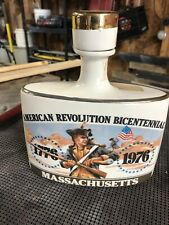 New listing American Revolution Bicentennial Whiskey Decanter Early Times Massachusetts.