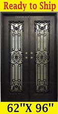 IN STOCK WROUGHT IRON FRONT ENTRY DOORS 62''X96'' DGD1067