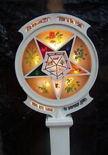 1921 Antique Masonic Order of the Eastern Star Lighted Lodge Sign Signet (Rare)