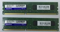 Memroy/Ram ADATA 8gb 2*4gb DDR3-1600 1.35v AM2L16BC4R1-B0AS Desktop pc dimm 240p