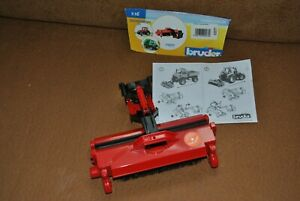 Bruder Kehrmaschine Zubehör für Unimog Traktor Landwirtschaft 02577