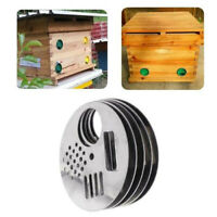 5Pcs Beehives Door Cage Stainless Steel Hive Hole Nest Beekeeping Tools Suppl TO