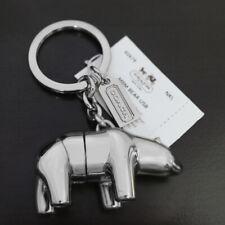 NWT COACH Solid Silver Nickel 3D Polar Bear USB Drive Keychain Key Ring Fob NEW