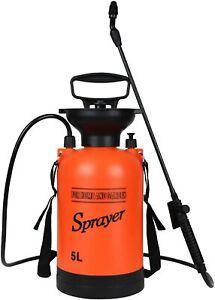 iPower 1.35 Gallon Lawn Garden Pump Sprayer with 2 Different Spray Patterns