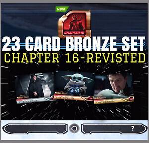 MANDALORIAN-CHAPTER 16 REVISITED-23 CARD BRONZE SET-TOPPS STAR WARS CARD TRADER