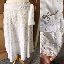 Animal White Flower Scallop Hem Skirt with Tie Side. 14. Surf. beach.